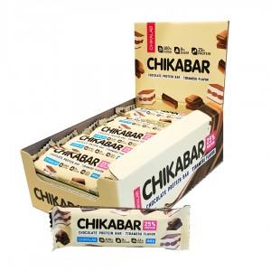 Chikabar протеиновый батончик в шоколаде (60 г)