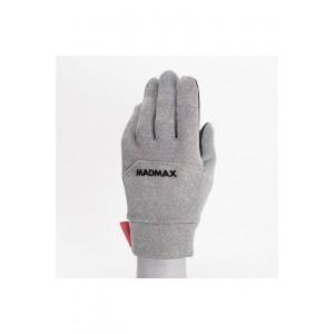 Перчатки для занятий спортом на свежем воздухе MadMax серо-черные